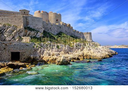 Chateau D'if Castle On An Island In Marseilles, France