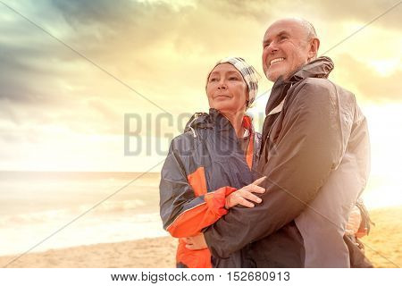 travel mature with man watching the far horizon