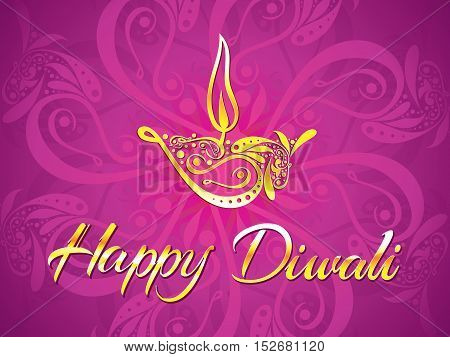 abstract artistic diwali purple background vector illustration