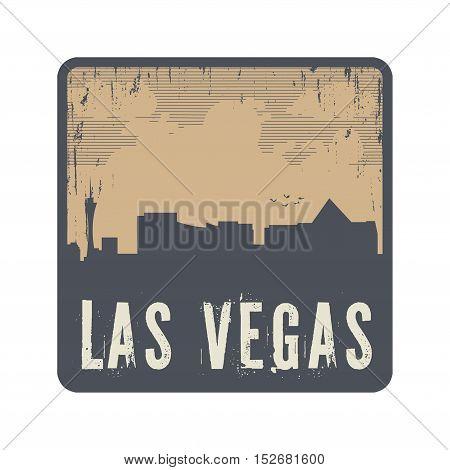 Grunge vintage stamp with text Las Vegas vector illustration