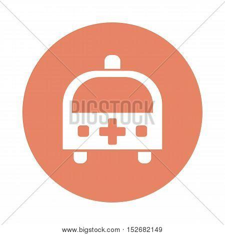 Ambulance flat icon vector. Medical vector eps 10