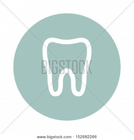 Tooth flat icon. Medical vector eps 10