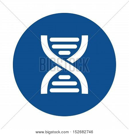 DNA flat icon. Medical vector eps 10