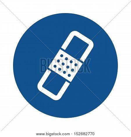 Band aid flat icon. Plaster sign. Bandage symbol eps 10