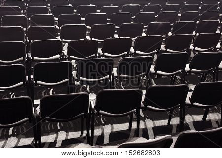 Empty Parterre In A Concert Hall.
