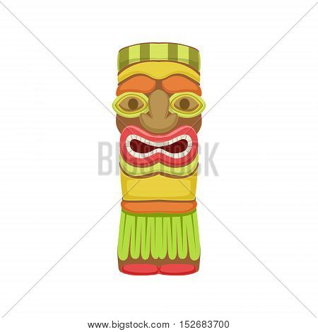 Indian Totem Hawaiian Vacation Classic Symbol. Isolated Flat Vector Icon With Traditional Hawaiian Representation On White Bacground.