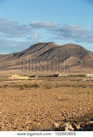 Beautiful volcanic mountains on Fuerteventura. Canary Islands. Fuerteventura. Canary Islands