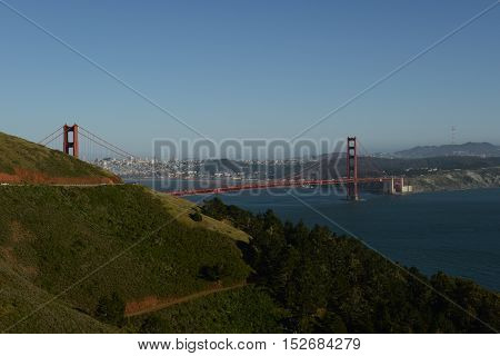 Golden Gate Bridge - Here is the most recognizable bridge in the world - the Golden Gate Bridge. Its length is about three kilometers. And it is open to cyclists and pedestrians. So if you're in the golden city of San Francisco, be sure to visit the Golde