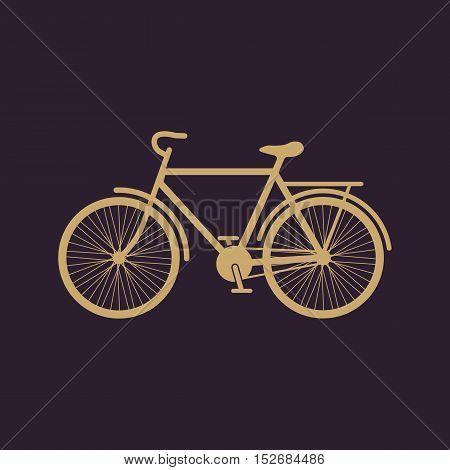 The bike icon. Bicycle symbol. Flat Vector illustration