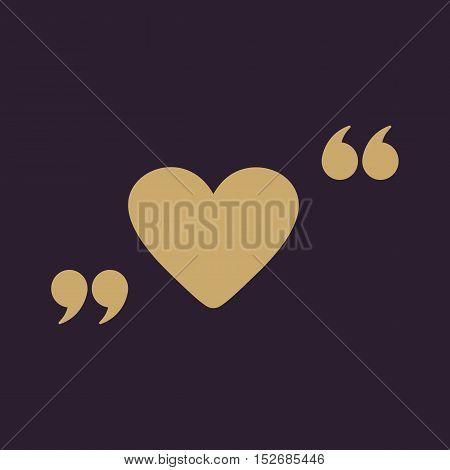 The love icon. Heart symbol. Flat Vector illustration