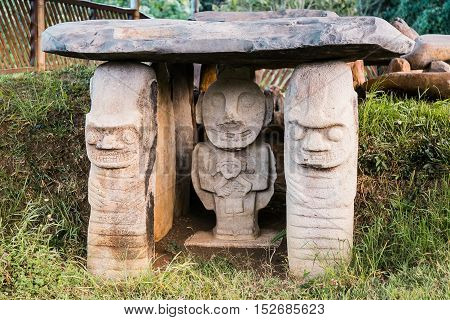 San Augustin Idols, Colombia, South America, Inka Civilization Idols