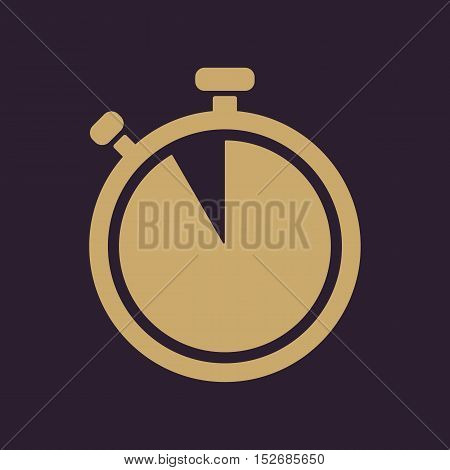 The stopwatch icon. Countdown symbol. Flat Vector illustration