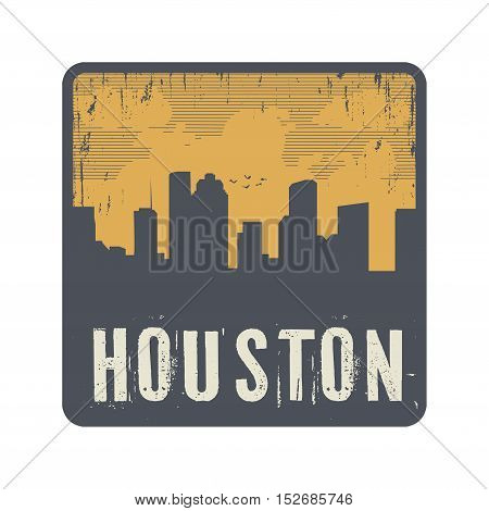 Grunge vintage stamp with text Houston vector illustration