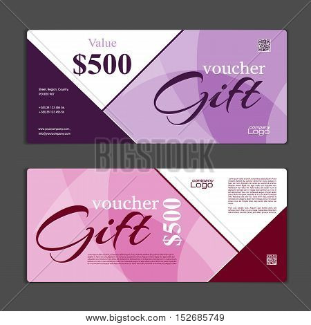 Gift Voucher Template. Can Be Use For Shopping Cards, Discount Coupon, Banner, Discount Card , Web D