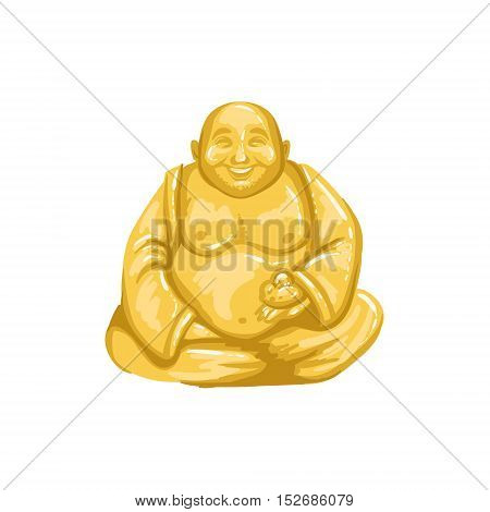 Netsuke Figurine Japanese Culture Symbol. Isolated Object Representing Japan On White Background