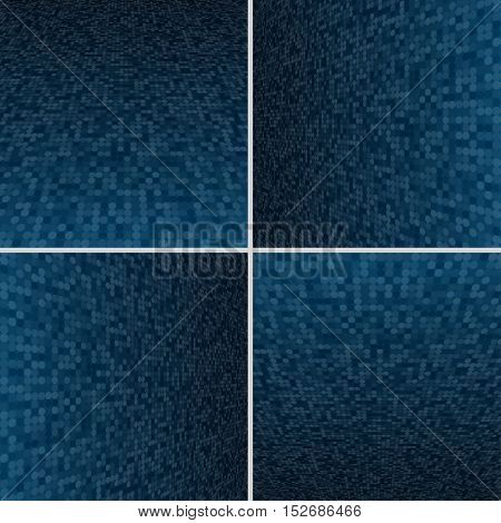 Set Abstract Dotted Halftone Effect Vector Background. Perspective Halftone Vector Background. Vector Background with Copy-Space. Blue Perspective Background. Vector illustration for Web Design.