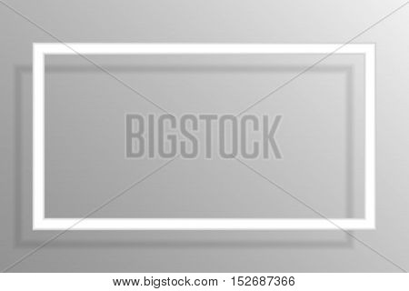 Paper rectangle banners frame template for business design, infographics. Vector illustration eps10.