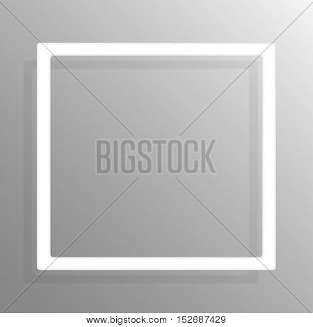 Paper square banners frame template for business design, infographics. Vector illustration eps10.