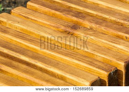 Texture, Pattern, Background. Wooden Slats. A Thin, Narrow Piece Of Wood, Especially One Of A Series