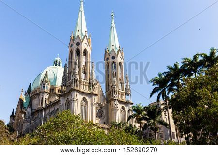 Se Church in Sao Paulo, Brazil