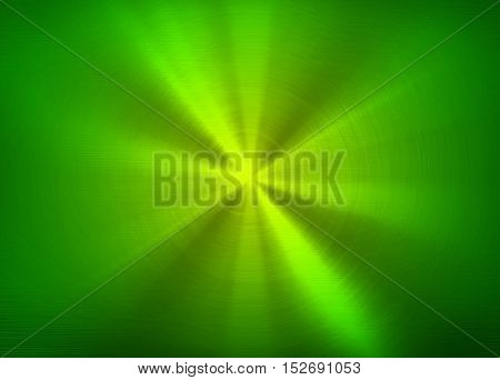 polished green metal with rays pattern