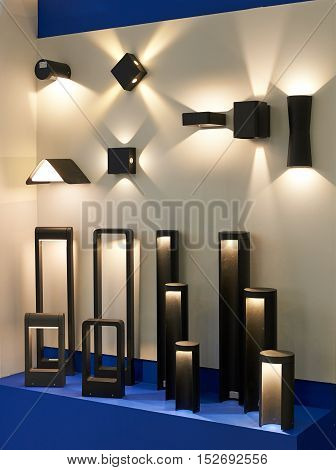Stand With Garden And Architectural Led Lamps.