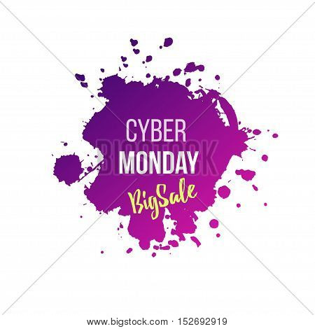 Cyber monday background, sale design template, banner, discount for clothing, electronics, games, furniture, cars online shopping Vector illustration