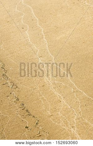 Texture, Background. The Sand On The Beach. Loose Granular Substance, Pale Yellowish Brown, Resultin