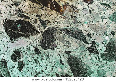 Natural Ancient Green Marble Texture Background.