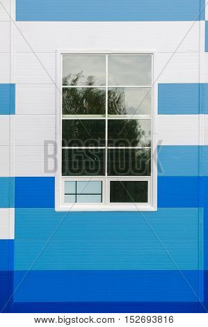 Texture, Background. White Blue Panel. A Flat Or Curved Component, Typically Rectangular, That Forms
