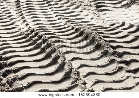 Texture, Background. Footprints In The Land Of The Tire Tread
