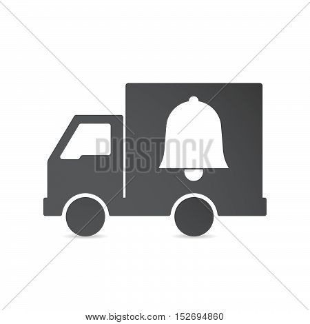 Isolated Delivery Truck With A Bell