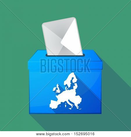 Long Shadow Ballot Box With  A Map Of Europe