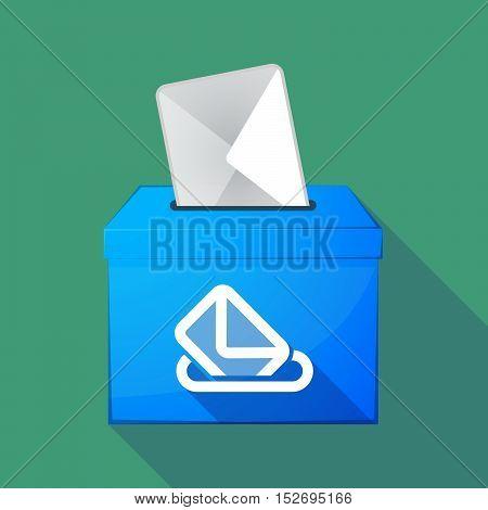 Long Shadow Ballot Box With  A Ballot Box