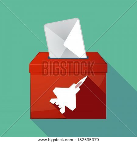 Long Shadow Ballot Box With A Combat Plane