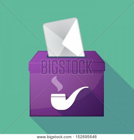 Long Shadow Ballot Box With A Smoking Pipe