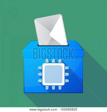 Long Shadow Ballot Box With A Cpu