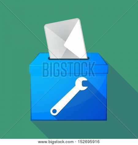 Long Shadow Ballot Box With A Spanner
