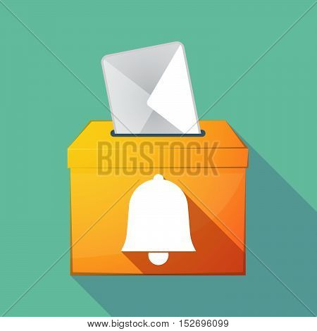 Long Shadow Ballot Box With A Bell