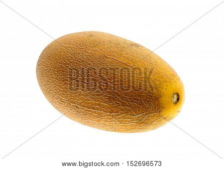 Half of cantaloupe melon isolated on the white background