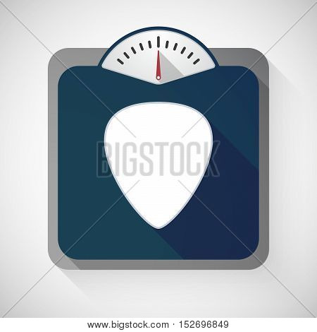Isolated Long Shadow Body Weight Scale With A Plectrum