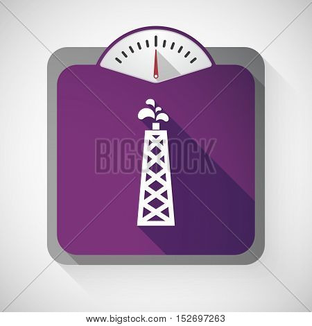 Isolated Long Shadow Body Weight Scale With An Oil Tower