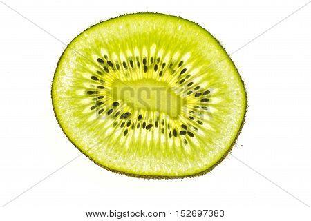 Kiwi, freigestellt, weißer Hintergrund, tropisch, Früchte, Obst