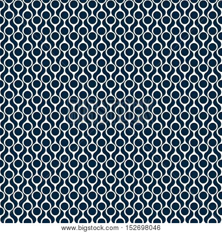 Seamless pattern. Geometric simple print in the sixties style