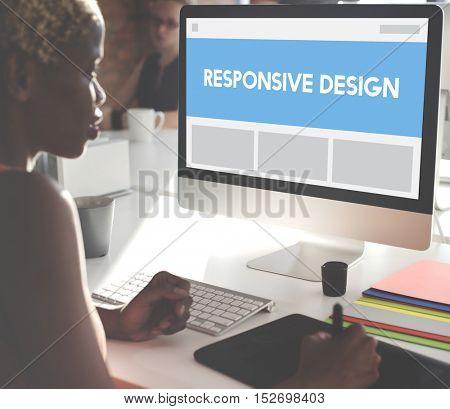 Responsive Design Layout Internet Concept