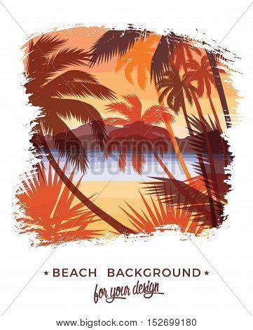 Beach Summer Background.