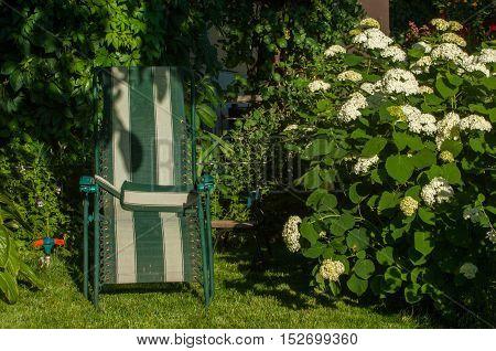 Portable Chair In The Garden,