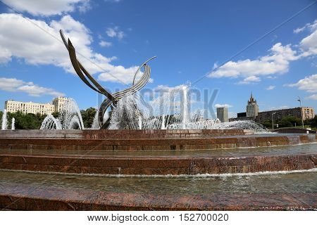 Fountain The Abduction Of Europe , Moscow, Russia