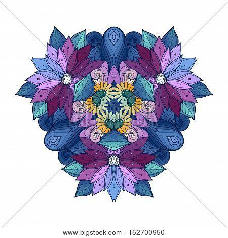 Vector Beautiful Deco Colored Triangle