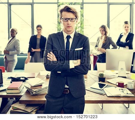 Business People Workplace Planning Teamwork Concept